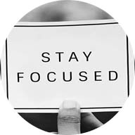 words saying stay focused