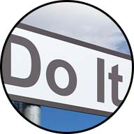 sign saying do it now
