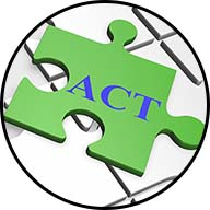 puzzle piece with the word act