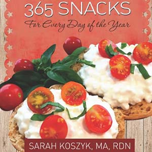 book cover with tomatoes on cottage cheese on english muffins