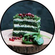 layered spinach cake