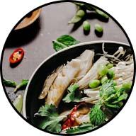 partial stir fry skillet